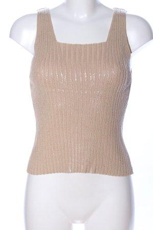 Nicowa Trägertop nude-silberfarben Streifenmuster Casual-Look