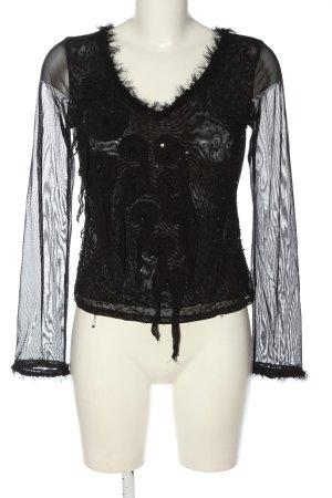 Nicowa Blusa trasparente nero stile casual