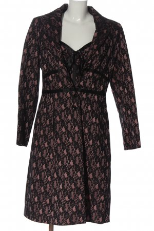 Nicowa Woven Twin Set black-pink flower pattern elegant