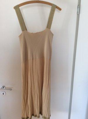 Twin set Sukienka na ramiączkach beżowy Bawełna