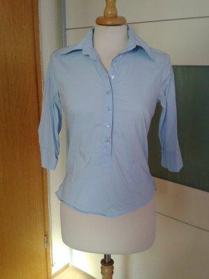 Niedliche Halbarm-Bluse im Polo-Style