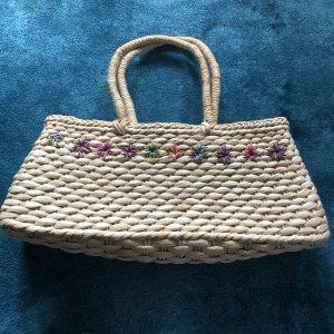 Basket Bag oatmeal-raspberry-red