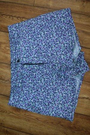 H&M Divided Spodenki biały-niebiesko-fioletowy