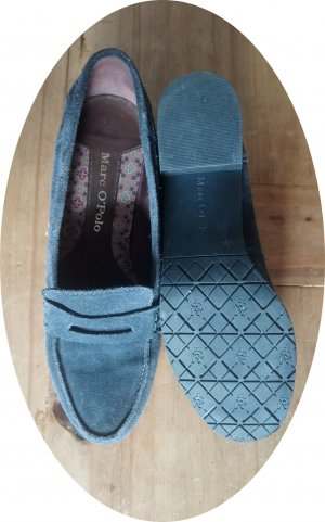 Niedliche Loafer von Marc O'Polo, Wildleder, graublau