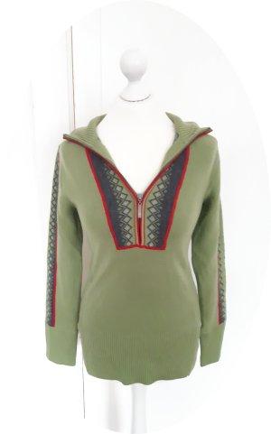 Niedlicher grüner Wollpullover von Eddie Bauer, Norweger