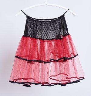 Falda de tul rojo oscuro-negro Viscosa