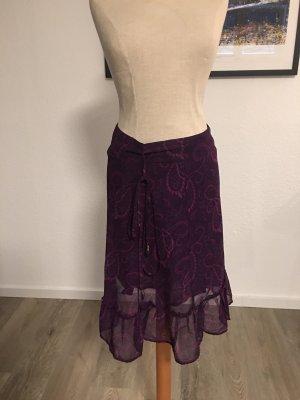 Zero Spódnica midi purpurowy-różowy neonowy