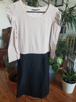 Xside Sukienka etui czarny-jasnobeżowy