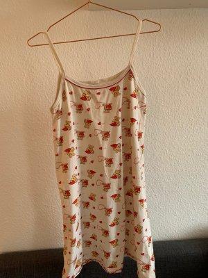 Vestido para casa rojo-crema Algodón