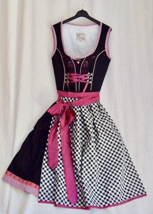 niedliches neuwertiges Dirndl GR 32 XXS-XS Stockerpoint pink-schwarz