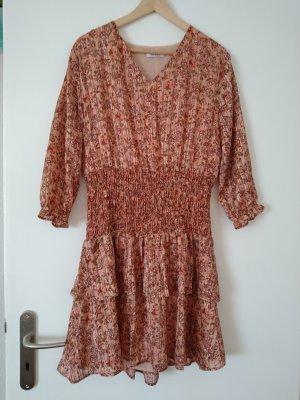 Orsay Sukienka z falbanami jasnoczerwony-łosowiowy Poliester