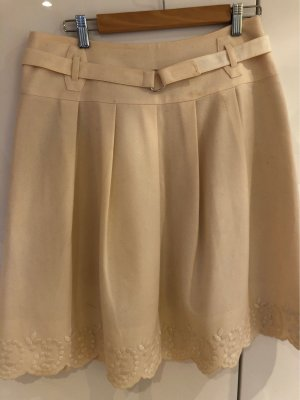Strenesse Gabriele Strehle Wool Skirt natural white