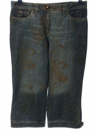 Nienhaus 3/4 Length Jeans black-bronze-colored mixed pattern casual look