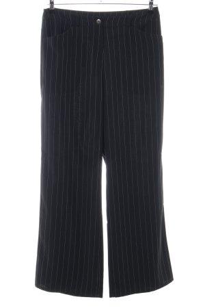 Nienhaus Culottes schwarz Streifenmuster Business-Look