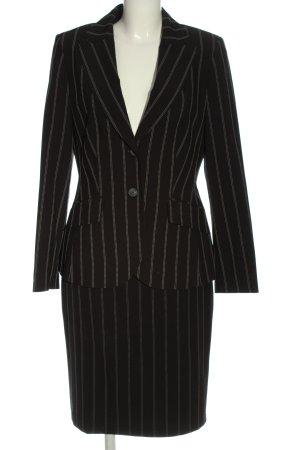 Nienhaus Ladies' Suit black-white striped pattern business style