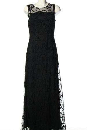 Niente Abendkleid schwarz Schriftzug gestickt Elegant