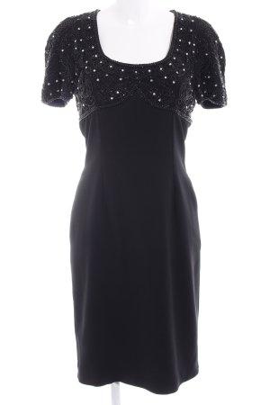 Niente Cocktailkleid schwarz abstraktes Muster Elegant