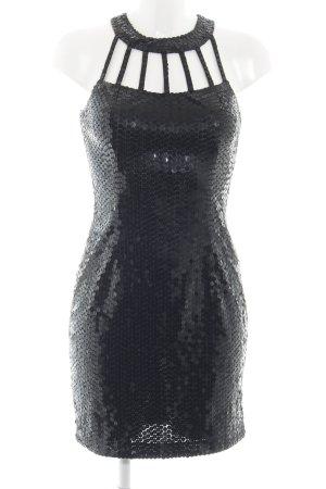 Niente Pailettenkleid schwarz Glitzer-Optik