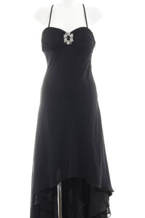 Niente Vokuhila-Kleid schwarz klassischer Stil