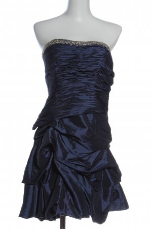 nientie schulterfreies Kleid blau Elegant