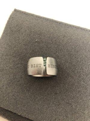 Niessing Anello d'argento argento-verde-grigio
