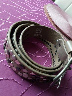 Leather Belt grey leather