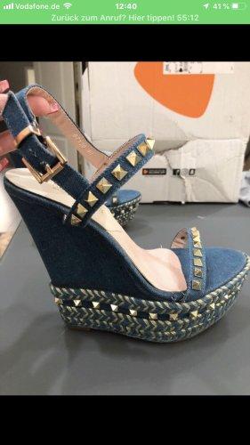 Nieten Keilabsatz Schuhe Gr 40