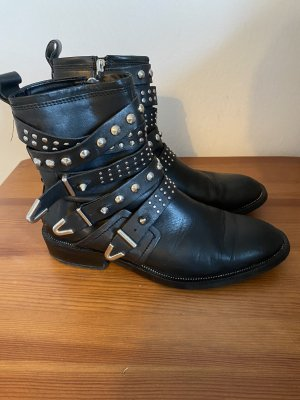 Mango Ankle Boots black-silver-colored
