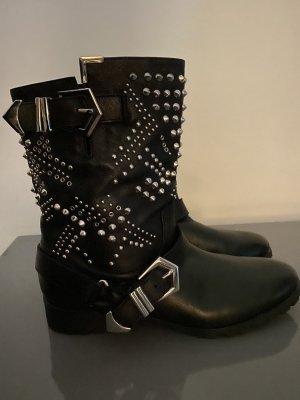 Zara Woman Botines negro Cuero