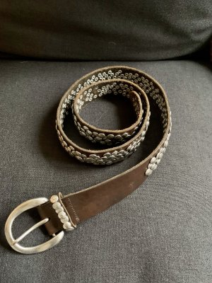 Liebeskind Berlin Studded Belt anthracite-taupe leather
