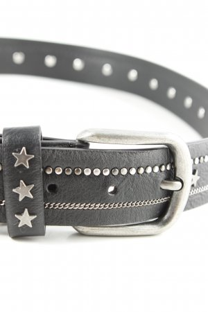 Studded Belt black-silver-colored casual look
