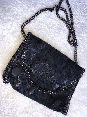 Nietenhandtasche,schwarz