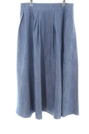 nife Glockenrock blau meliert Casual-Look
