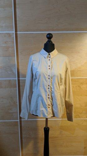 nife Hemd Bluse Langarm beige Baumwolle Größe 44