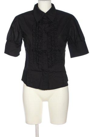 nife Kurzarmhemd schwarz Elegant