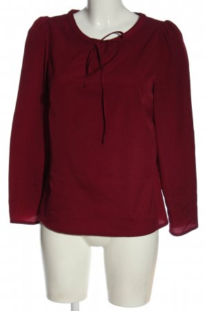 nife Langarm-Bluse rot Business-Look