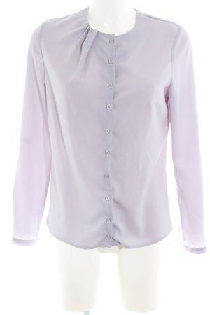 nife Langarm-Bluse lila Business-Look