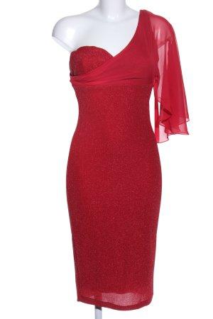 One-Shoulder-Kleid rot Elegant