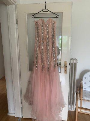 Terani Couture Camisa folclórica color rosa dorado