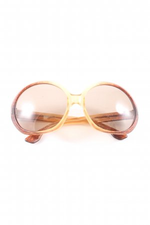 NiGuRa SUNDREAM runde Sonnenbrille braun-wollweiß Farbverlauf Casual-Look