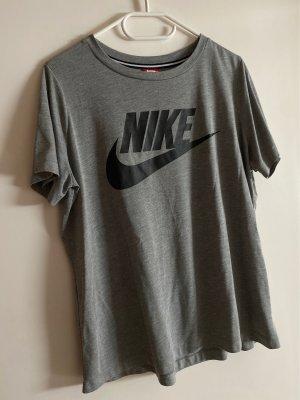 Nike T-shirt gris-noir