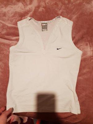 Nike One Shoulder Shirt white