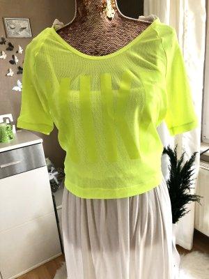 Nike Top maillé jaune fluo