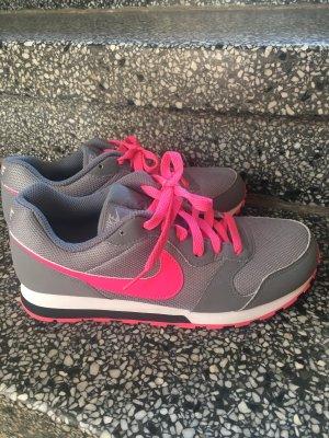 Nike Sneakers met veters grijs-neonroos