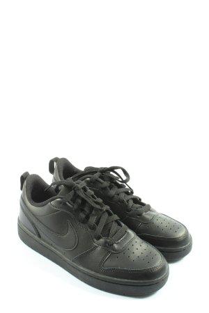 Nike Absatz Sneaker schwarz Motivdruck Casual-Look