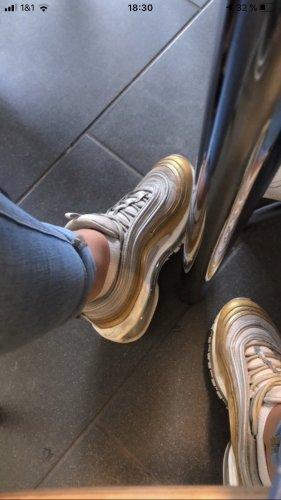 Nike Zapatillas altas color oro-color plata