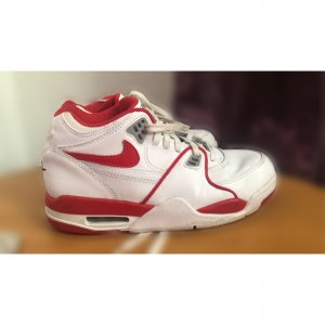 Nike Lace-Up Sneaker white-red