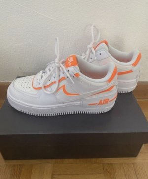 Nike Basket à lacet blanc-orange