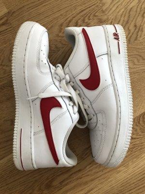 Nike Sznurowane trampki biały-czerwony