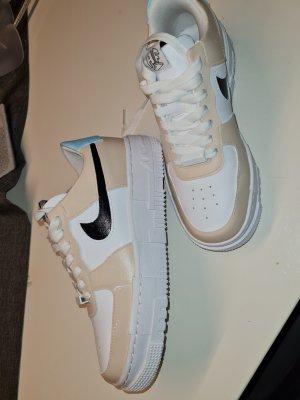 nike air force 1 High Top Sneaker beige